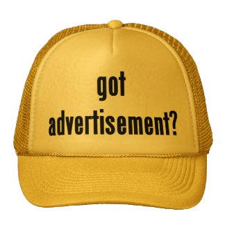 got advertisement? mesh hat