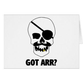 Got Arr? Pirate Skull Card