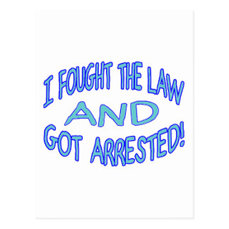 Got Arrested Postcard