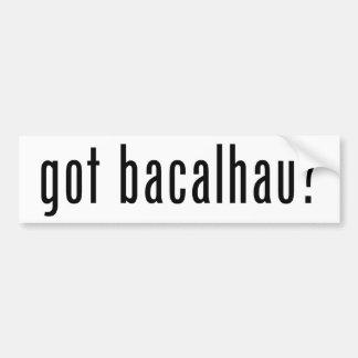got bacalhau? car bumper sticker