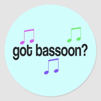 Got Bassoon Classic Round Sticker