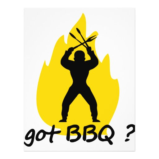 got BBQ? with flame icon Personalized Flyer