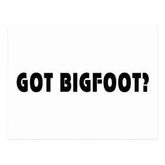 Got BigFoot Post Cards