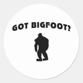 Got BigFoot? Round Stickers