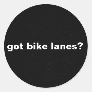 got bike lanes, bike lane, clean energy round sticker