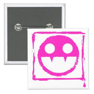 got blud smily ded girl vamp Smily n' Fangs!! 15 Cm Square Badge