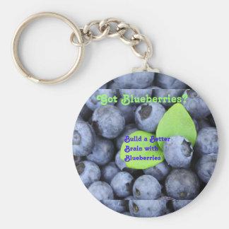 Got Blueberries? Key Ring