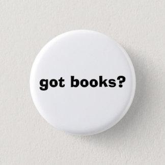 got books? 3 cm round badge