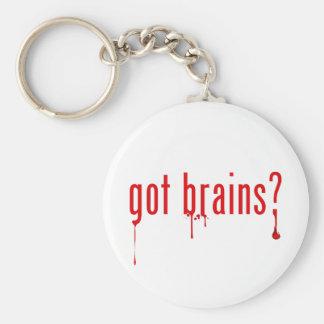 got brains? basic round button key ring