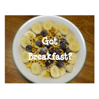 Got Breakfast? Postcard