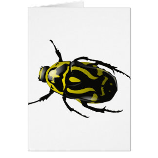 Got Bugs-Wild Colored Beetle Greeting Card