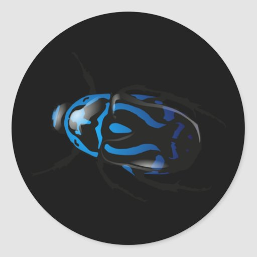 Got Bugs-Wild Colored Beetle Round Stickers