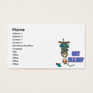 got bulbs funny xmas lights cartoon business card
