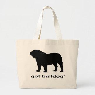 Got Bulldog? Large Tote Bag