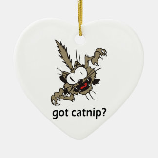 got catnip? ceramic ornament