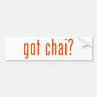 got chai? bumper stickers