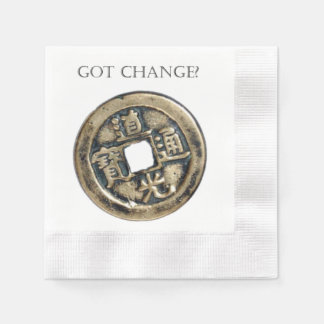 Got Change? Ancient Chinese Coin Disposable Serviettes