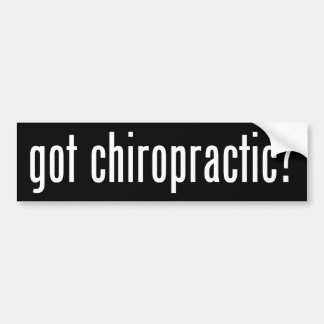 Got Chiropractic? Bumper Sticker