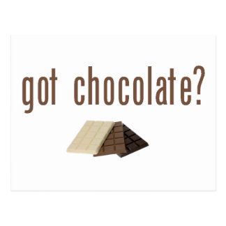 Got Chocolate? (w/bars) Postcard