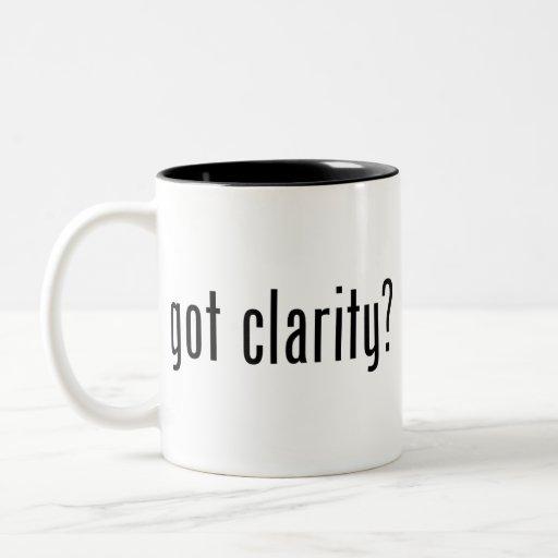 got clarity? Coffee Cup Mugs