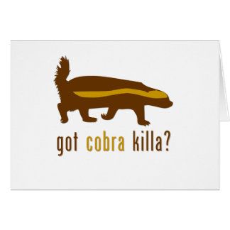got cobra killa (honey badger) greeting cards