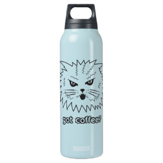 Got Coffee? Angry Kitty Insulated Water Bottle