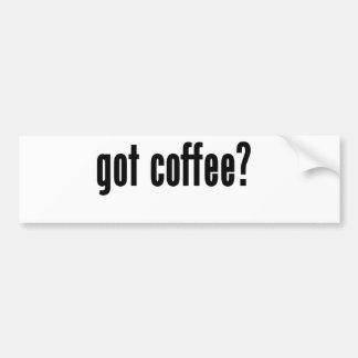 got coffee? bumper sticker