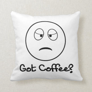 Got Coffee? - Funny Accent Pillows Throw Cushions