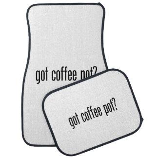 got coffee pot car mat