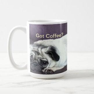 Got Coffee Pug? Basic White Mug