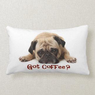 Got Coffee? Pug Pillow Throw Cushion