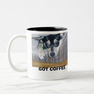 GOT COFFEE Two-Tone COFFEE MUG