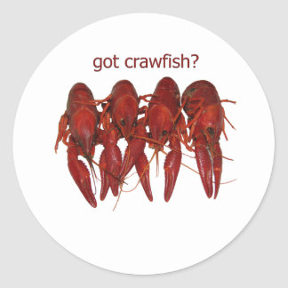 got crawfish? logo classic round sticker