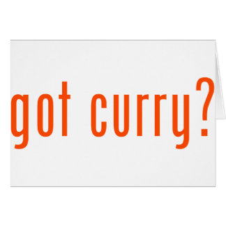 got curry? greeting card