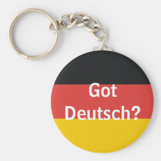 Got Deutsch? Basic Round Button Key Ring