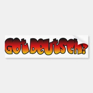 Got Deutsch? Bumper Sticker