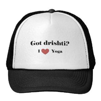 """""""Got Drishti?  I love yoga"""" Hats"""