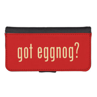 got eggnog? phone wallet cases
