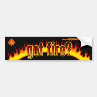 got fire black sticker