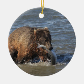 Got Fish? Alaska Brown Bear gifts Ceramic Ornament
