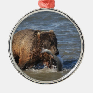 Got Fish? Alaska Brown Bear gifts Metal Ornament
