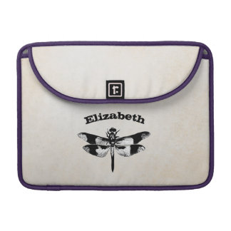 Got Flying Wings / Vintage Dragonfly Personalized Sleeve For MacBook Pro