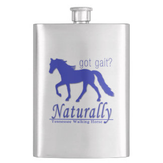 got gait? Naturally Tennessee Walking Horse Hip Flask