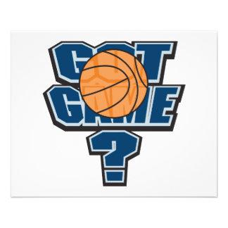 got game basketball design 11.5 cm x 14 cm flyer