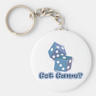 Got Game? dice Key Ring