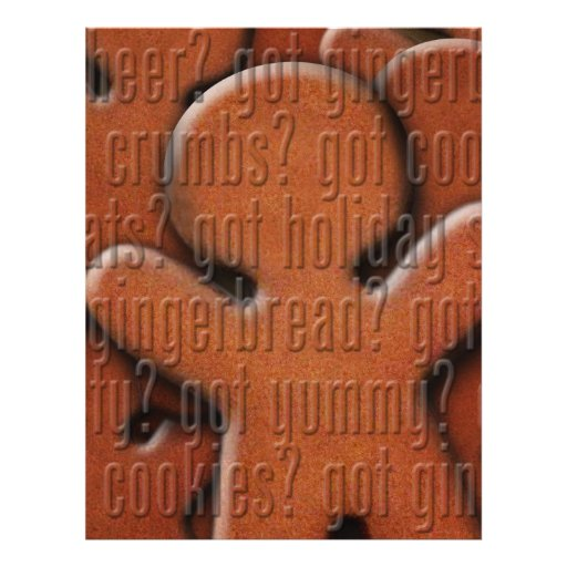 got gingerbread man? full color flyer
