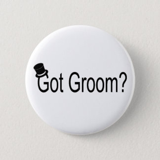Got Groom (Top Hat) 6 Cm Round Badge