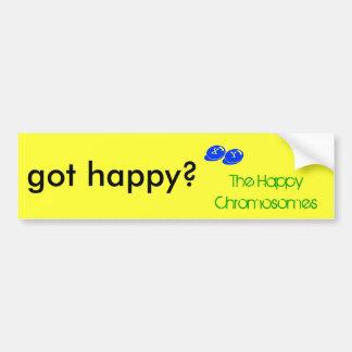 got happy? bumper sticker