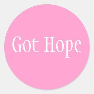 Got Hope - Font 1 Classic Round Sticker