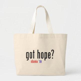 got hope? obama 08 jumbo tote bag